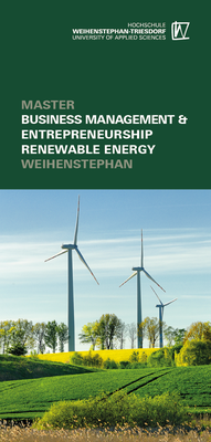 Titelseite Faltblatt Master Business Management & Entrepreneurship Renewable Energy