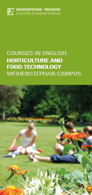Flyer Courses in English - Department of Horticulture and Food Technology