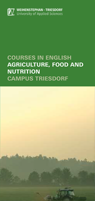 Faltblatt Courses in English - Department of Agriculture, Food and Nutrition