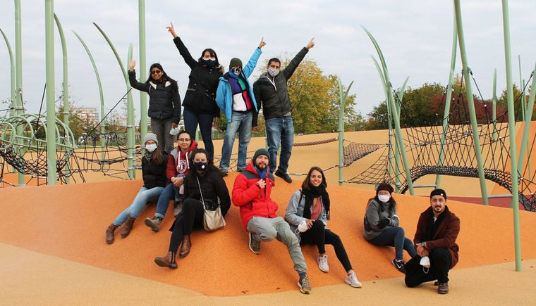 photo group of students on a playground